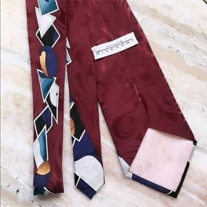 Givenchy Monsieur 100% silk abstract red tie